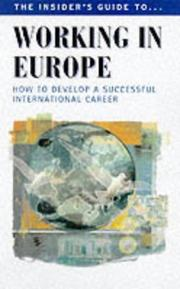 Cover of: Working in Europe (Careers)