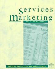 Cover of: Services Marketing