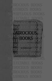 Cover of: ATROCIOUS BOOKS
