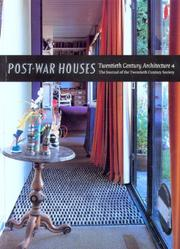 Cover of: Post-war Houses (Twentieth Century Architecture)