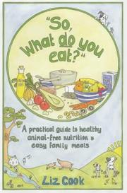 "Cover of: ""So, What Do You Eat?"""