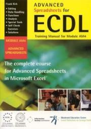 Cover of: Advanced Spreadsheets for ECDL
