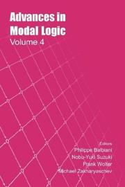Cover of: Advances In Modal Logic