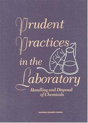 Cover of: Prudent practices in the laboratory |