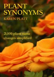 Cover of: Plant Synonyms