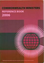 Cover of: Commonwealth Ministers Reference Book 2006 | Commonwealth Secretariat.