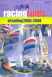 Cover of: RYA Racing Rules of Sailing 2005-2008 (Royal Yachting Association)
