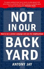 Cover of: Not in Our Back Yard