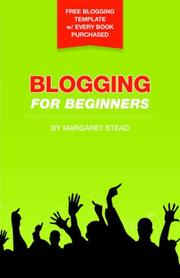 Cover of: Blogging for Beginners