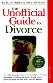 Cover of: The unofficial guide to divorce