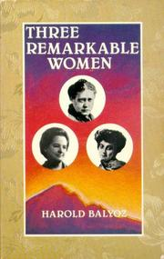 Cover of: Three remarkable women
