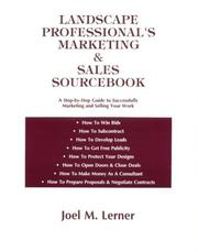 Cover of: Landscape professional's marketing & sales sourcebook