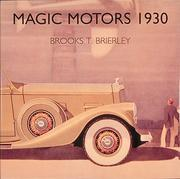 Cover of: Magic motors 1930
