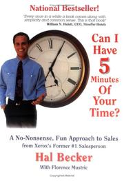 Cover of: Can I have 5 minutes of your time?