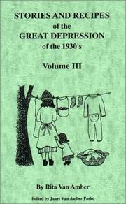 Cover of: Stories and recipes of the Great Depression of the 1930's