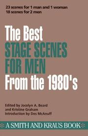 Cover of: The Best stage scenes for men from the 1980's
