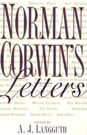 Cover of: Norman Corwin's letters
