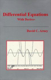 Cover of: Differential Equations With Derive | David S. Arney