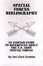 Cover of: Special forces bibliography