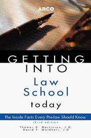 Cover of: Getting into law school today