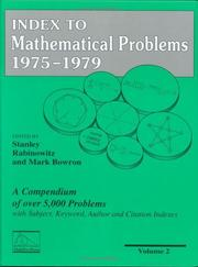 Cover of: Index to mathematical problems, 1975-1979 |