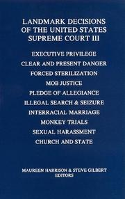 Landmark Decisions of the United States Supreme Court III (Landmark Decisions of the United States Supreme Court)
