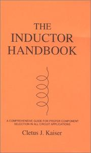Cover of: inductor handbook | Cletus J. Kaiser