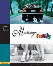 Cover of: Marriage and the family