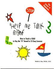 Cover of: Help me talk right