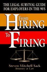 Cover of: From hiring to firing