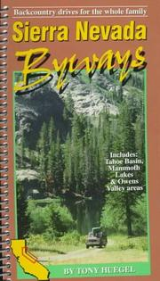 Cover of: Sierra Nevada byways