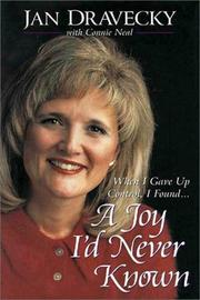 Cover of: A joy I'd never known