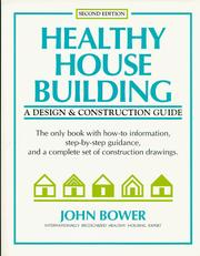 Cover of: Healthy house building