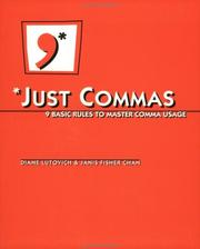 Cover of: Just Commas | Janis F. Chan