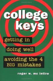 Cover of: College Keys  | Roger W. McIntire