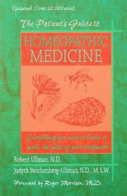 Cover of: The patient's guide to homeopathic medicine