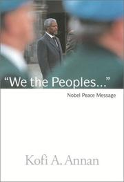 Cover of: We the Peoples | Kofi Annan