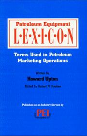 Cover of: Petroleum Equipment Lexicon | Howard Upton
