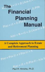 Cover of: The financial planning manual