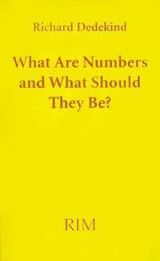 Cover of: What are numbers and what should they be? =