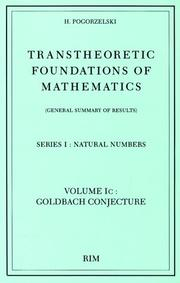 Cover of: Transtheoretic foundations of mathematics (general summary of results)