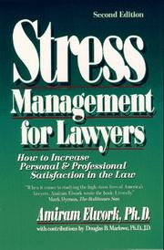 Cover of: Stress management for lawyers