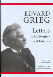 Cover of: Letters to colleagues and friends