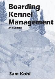 Cover of: Boarding kennel management