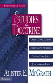 Cover of: Studies in doctrine | Alister E. McGrath