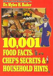 Cover of: The wizard of food presents 10,001 food facts, chef