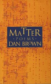 Cover of: Matter