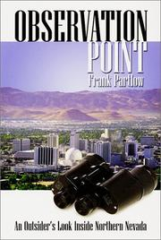 Cover of: Observation point | Frank Partlow