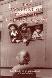 Cover of: The evacuation diary of Hatsuye Egami