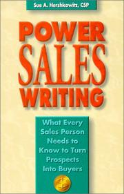 Cover of: Power Sales Writing | Sue A. Hershkowitz